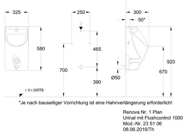 Renova Nr1 Plan Urinal M Fc1000 Ihr Sanitärinstallateur Aus